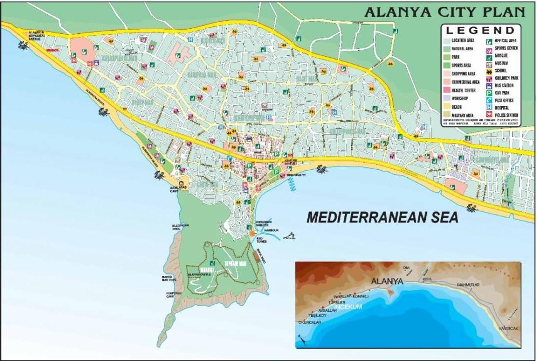 Карта региона алания карта города