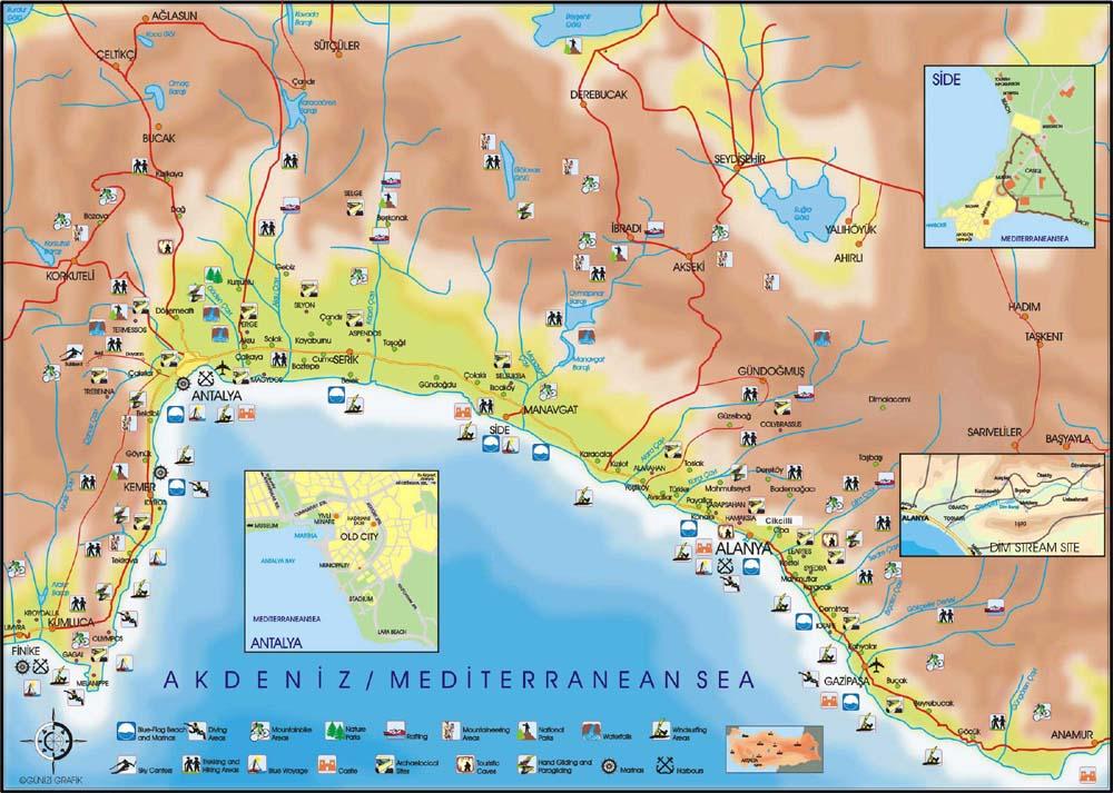 Карта достопримечательностей региона